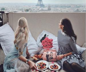 fashion, paris, and breakfast image
