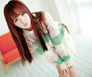 asian girl, model, and korea image