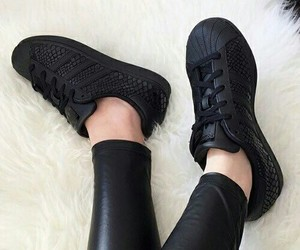 black, adidas, and shoes image