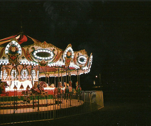 vintage, light, and carousel image