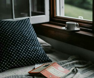 bedroom, coffee, and nature image