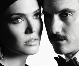 actors, black and white, and Milo Ventimiglia image