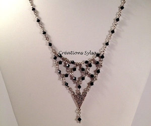 crystal necklace, etsy, and hypoallergenic image