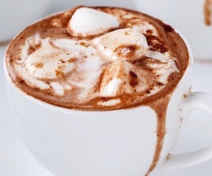 drink, coffee, and hot chocolate image