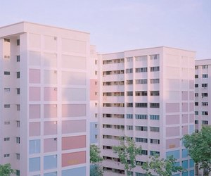 aesthetic, pastel, and building image