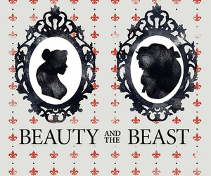 beauty and the beast, movie poster, and belle image
