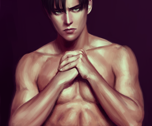 anime, snk, and levi image