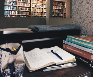 books, library, and studyblr image