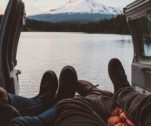 couple, indie, and nature image