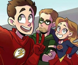 Supergirl, arrow, and the flash image