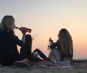 bff, cigarette, and girls image
