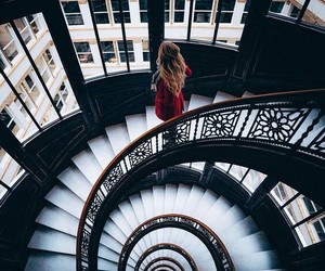 girl, photography, and stairs image