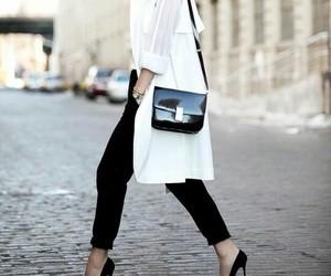bag, white, and black image