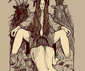 girls, satan, and Hot image