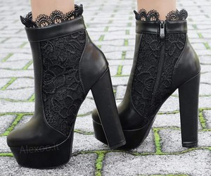 shoes, black, and love image