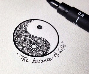 draw, tattoo, and ying and yang image