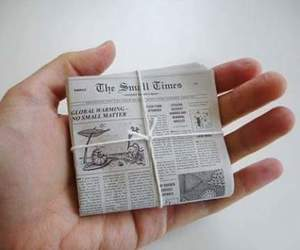 newspaper, photography, and small image