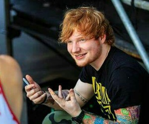 ed sheeran, ginger, and tattoo image