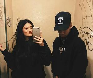 tyga, kylie jenner, and couple image