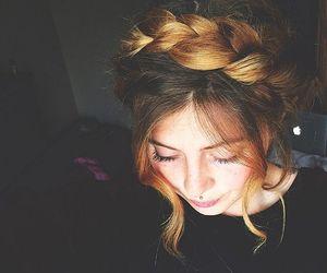 braid, girl, and hair image