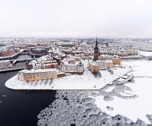 city, scandinavia, and snow image