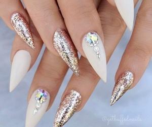 nails, glitter, and nail art image