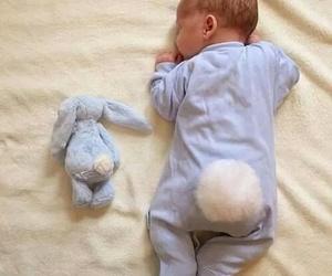 baby, bunny, and kids image