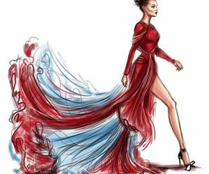 moda, desenho, and fashion image