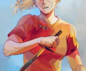 percy jackson, annabeth chase, and pjo image