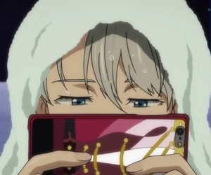 anime, yuri on ice, and ice skating image