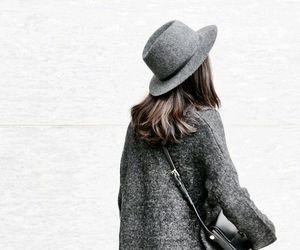 brunette, grey, and coats image