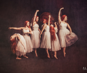 ballerina, ballet, and redhair image