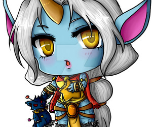 chibi, anime style, and league of legends image