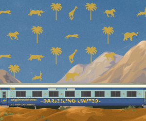 postcard, the darjeeling limited, and wes anderson image