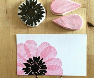 black, diy, and flower image