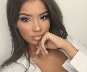 brunette and makeup image