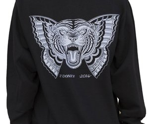 hoodie, pullover, and butterfly tattoo image