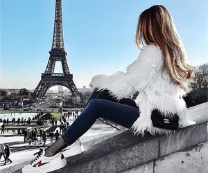girl, paris, and outfit image