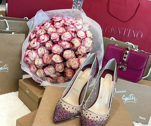 louboutin, roses, and style image