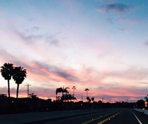 los angeles, sky, and sunset image