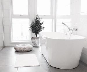 interior, white, and bathroom image