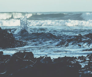 nature, sea, and waves image