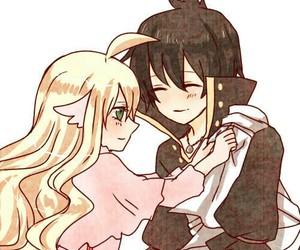 zervis, anime, and couple image