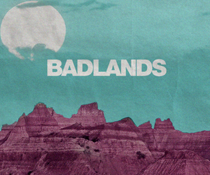 badlands, moon, and Queen image