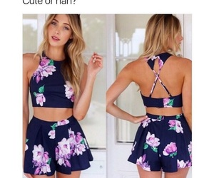 flowers, skirt, and top image