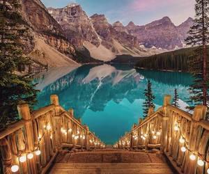 lake, light, and nature image