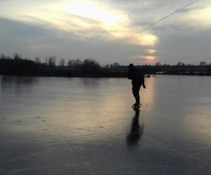 holland, ice, and sunset image