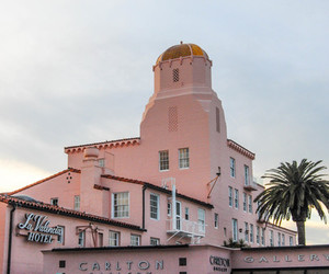 hotel, pink, and pastel image