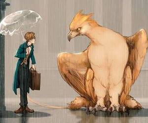 eddie, newt, and harry potter image
