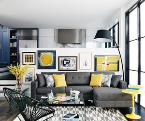 yellow, interior, and decoration image
